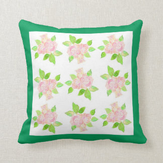 Vintage Pink Roses Throw Pillow or Scatter Cushion
