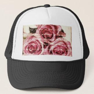 Vintage Pink Roses Trucker Hat