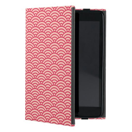 Vintage Pink Sakura Koinobori Fish Scale Pattern Case For iPad Mini