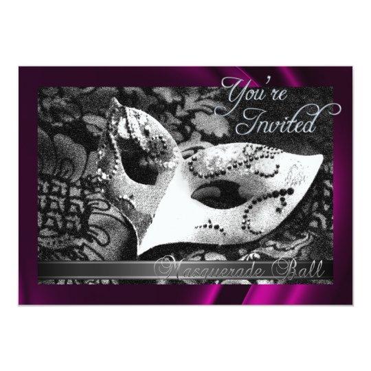 Vintage Pink Silk Masquerade Ball Invitation