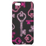 Vintage Pink Skeleton Key Speck Case Case For iPhone 5C