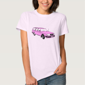 Vintage Pink Station Wagon T Shirt