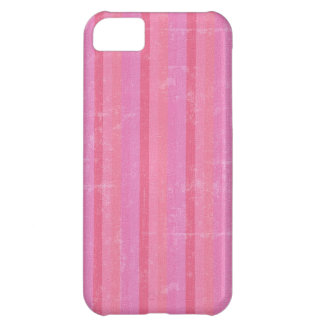 Vintage Pink Stripes Cover For iPhone 5C