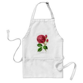 Vintage Pink Tea Rose Design Apron