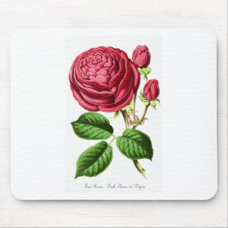 Vintage Pink Tea Rose Design Mouse Pad