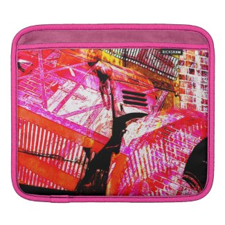 vintage pink truck collage sleeve for iPads