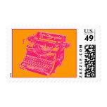 Vintage Pink Typewriter Stamp