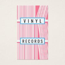 Vintage Pink Vinyl DJ Business Card 2018