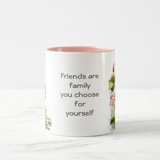 Vintage - Pink Water Lilies & Friends Quote Mugs