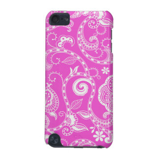 Vintage Pink White Floral Damask Pattern iPod Touch 5G Case