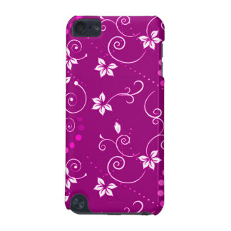 Vintage Pink White Floral Polka Dots Pattern iPod Touch 5G Case