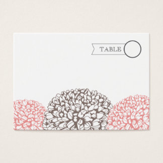 Vintage Pink Zinnia Suite Table Name Place Cards