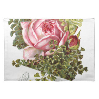Vintage-pinkrose-advetisement Cloth Placemat