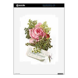 Vintage-pinkrose-advetisement Decal For The iPad 2