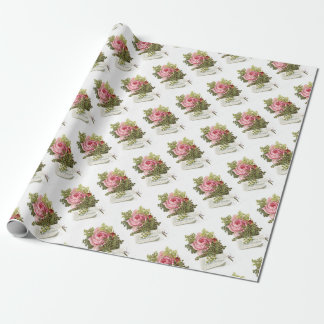 Vintage-pinkrose-advetisement Wrapping Paper