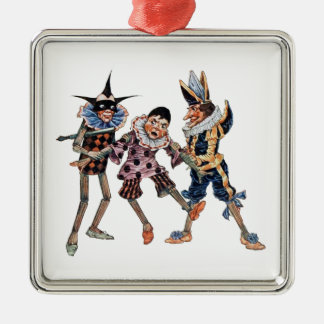 Vintage Pinocchio Illustration Metal Ornament