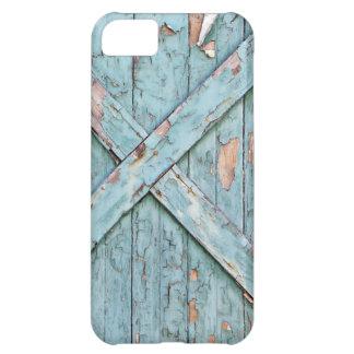 Vintage - pintura resistida azul funda para iPhone 5C