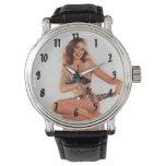 Vintage Pinup Bikini Girl Wristwatches