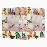 Vintage Pinup Collage - 12 Gorgeous Girls In 1 3 Ring Binder