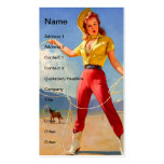 Vintage Pinup Cowgirl and Horse Double-Sided Standard Business Cards (Pack Of 100)