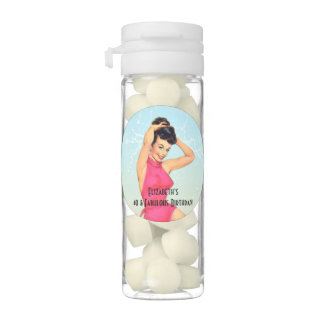 Vintage Pinup Girl and Sea Shell Party Chewing Gum