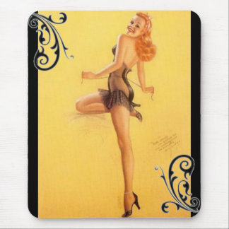 vintage pinup Girl Mouse Pad