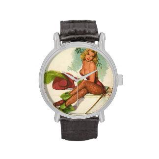 Vintage Pinup Girl Original Coloring 10 Wrist Watch
