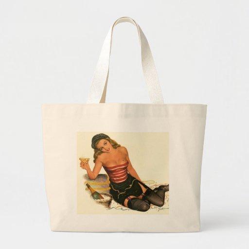 Vintage Pinup Girl Original Coloring 11 Bags