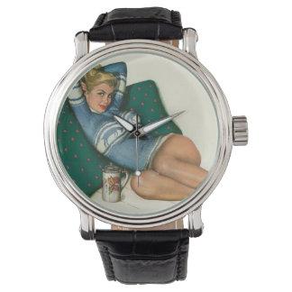 Vintage Pinup Girl Original Coloring 12 Watch