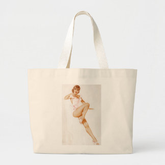 Vintage Pinup Girl Original Coloring 13 Canvas Bags