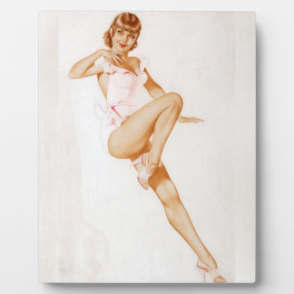 Vintage Pinup Girl Original Coloring 13 Plaques