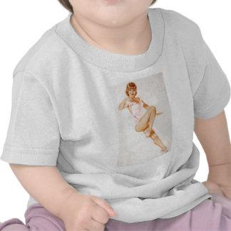 Vintage Pinup Girl Original Coloring 13 T-shirt