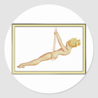 Vintage Pinup Girl Original Coloring 14 Stickers