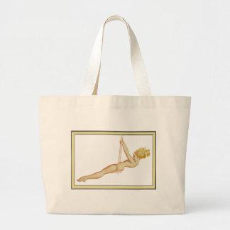 Vintage Pinup Girl Original Coloring 14 Tote Bags