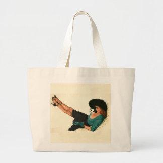 Vintage Pinup Girl Original Coloring 15 Canvas Bag