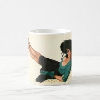 Vintage Pinup Girl Original Coloring 15 Coffee Mug