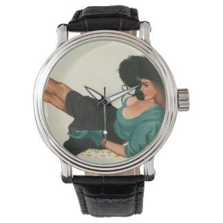 Vintage Pinup Girl Original Coloring 15 Watch