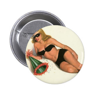 Vintage Pinup Girl Original Coloring 16 2 Inch Round Button