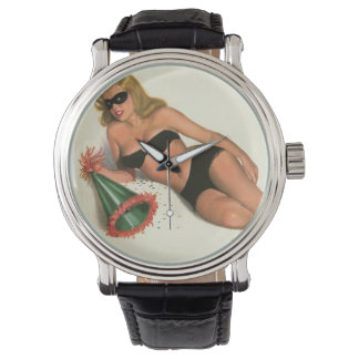 Vintage Pinup Girl Original Coloring 16 Wrist Watches