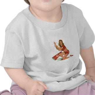 Vintage Pinup Girl Original Coloring 17 T-shirt