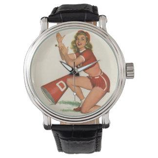 Vintage Pinup Girl Original Coloring 17 Wristwatches
