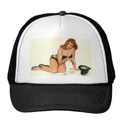 Vintage Pinup Girl Original Coloring 18 Trucker Hat