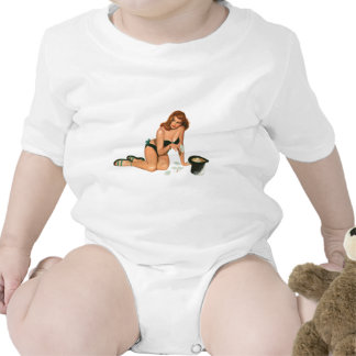 Vintage Pinup Girl Original Coloring 18 Tshirt