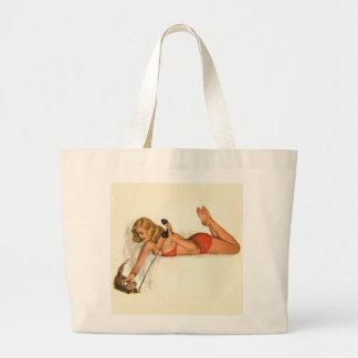 Vintage Pinup Girl Original Coloring 19 Bags