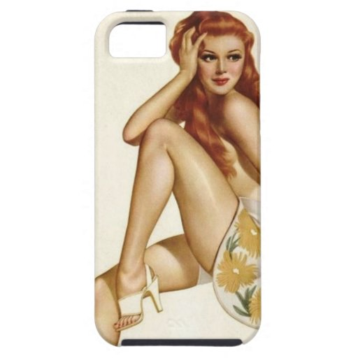 Vintage Pinup Girl Original Coloring 1 iPhone 5 Cover
