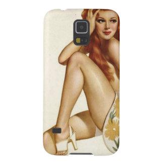 Vintage Pinup Girl Original Coloring 1 Galaxy S5 Case