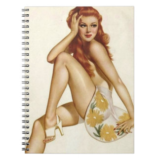 Vintage Pinup Girl Original Coloring 1 Notebook