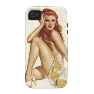 Vintage Pinup Girl Original Coloring 1 Vibe iPhone 4 Case