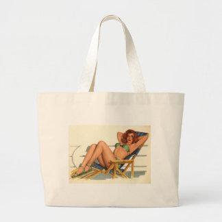 Vintage Pinup Girl Original Coloring 22 Bags