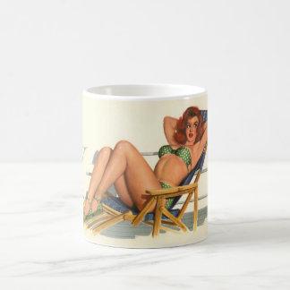 Vintage Pinup Girl Original Coloring 22 Mug